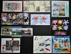 2003 - 2004 VARIOUS VERY FINE USED MINIATURE SHEETS & BLOCKS WITH FDI HANDSTAMPS