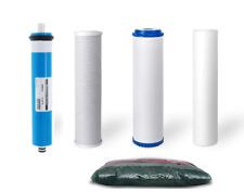 Replacement RODI Reverse Osmosis Water Filters 75 GPD Membrane 2 lbs DI Resin