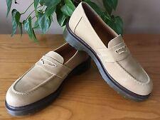 DR. MARTENS Darcey tan soft canvas slip on moccasin loafer shoes UK 6 EU 39 NEW