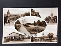 Vintage Real Photo Postcard #TP1003: Leicester Multiview: Posted 1936