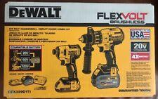 DeWalt 20V Flexvolt Brushless Hammer Drill Impact Driver Combo Kit DCK299D1T1