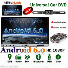 7'' inch Android 6.0 4G WiFi Double 2DIN Car Radio Stereo DVD Player GPS+Camera