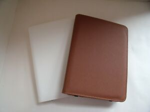 PU Leather Case Stand Cover for iPad Mini 1 2 3 Brown or Off White