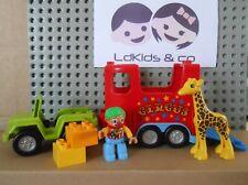 LEGO DUPLO 10550 LE TRANSPORT DU CIRQUE CAMION + CLOWN +  GIRAFE / CIRCUS