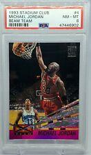 1993-94 Topps Stadium Club Beam Team #4 Michael Jordan Bulls HOF PSA 8 NM-MT