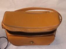 Vintage Large Leather Polaroid Camera Case w/Non Working Flash and Leather Strap
