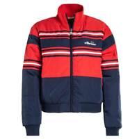 Ellesse Womens Jacket Presto Logo Stripe Navy Blue Red 8uk New