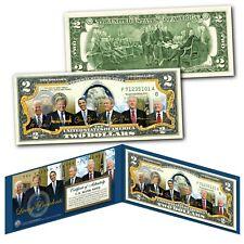 LIVING PRESIDENTS 2021 with JOE BIDEN & TRUMP Genuine Legal Tender U.S. $2 Bill