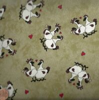 Farm Doodles chickens roosters Riverwoods fabric