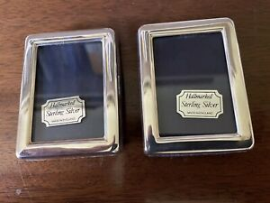 Pair Of Sterling Silver Photo Frames.  English Hall marked.  7cm x 5cm.