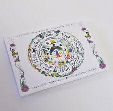 Rueda De año A6 Reciclado En Blanco Portátil Pagano Wicca Bos cuaderno de bocetos Celta