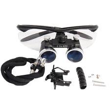2.5x420mm Dental Loupes Surgical Binocular Loupes Magnifying Glasses Black