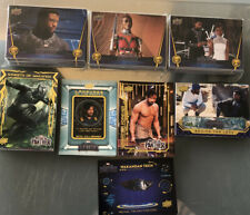 MARVEL BLACK PANTHER MOVIE CARD SET AND 5 CHASE SETS