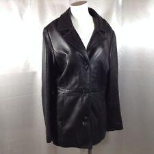 MARC NEW YORK Andrew Marc Women's Black Soft Leather Jacket Coat  Sz. Large EUC