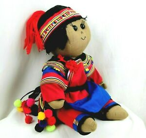 Thailand Doll Handmade Ethnic Cloth New Life Center Mission Jesus Loves Me 11 in