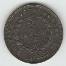 British North Borneo 1891-H Copper Half Cent KM-1