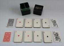 Vtg Edwardian Miniature 'Patience' Playing Cards in Original Box 2 Decks