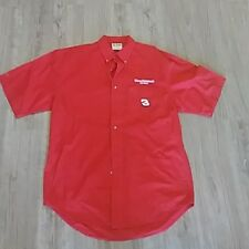 Mens DALE EARNHARDT JR Crew S/S Button Down Shirt CHASE LARGE L