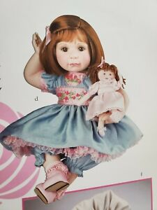 NRFB ~ Marie Osmond PLAYING DOLLS Toddler Porcelain Doll Set ~NEW~ Adorable