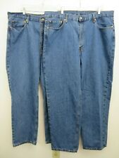 LEVI'S 550 Relaxed Fit Medium Wash Blue Jeans 44x32 Lot of 2