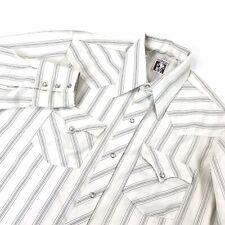 Karman Mens Shirt Western Pearl Snap Rockabilly Vintage Long Tail 16 Medium