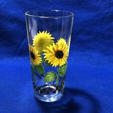 New listing Sun Flower Drinking Glass Tumbler 14 Oz.