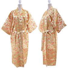 Femme KIMONO JAPONAIS 70% SOIE ROBE DE CHAMBRE PEIGNOIR GEISH 50 52 OR AYAKI