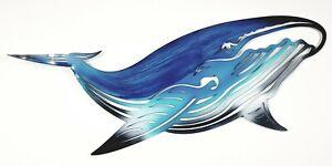 Large Whale Sea Life Metal Hanging Wall Art Ocean Coastal Home Décor 74 cm