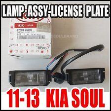KIA 2010-2013 SOUL Rear License Plate Lamp Assy Genuine OEM 92501-2K000