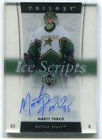 2005-06 Upper Deck Trilogy Ice Scripts MT Marty Turco Auto