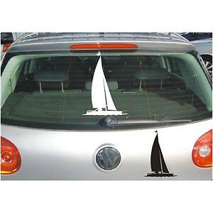 Schatten Aufkleber  Segelschiff Segeln Segel Boot Segelboot Sport Sticker