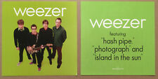 Weezer Rare 2001 Set of 2 Double Sided Promo Poster Flat for Green Cd Mint Usa
