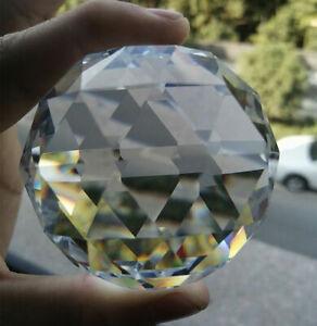 60MM Large Flat Cutting Ball Suncatcher Faceted Prism Centerpiece Accessories