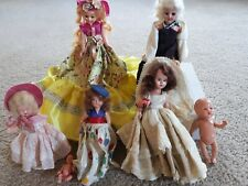 Vintage 1950s Lot of 7 dolls: 1 or 2 Nancy Ann Storybook Dolls, the rest unknown