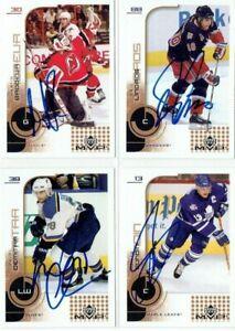 """MARTIN BRODEUR autographed '02/03 NJ NEW JERSEY DEVILS """"Upper Deck MVP"""" card"""