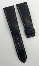Authentic Hermes 22mm x 17mm Black Calf Leather Watch Strap Band Belt OEM