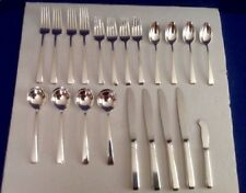TOWLE CRAFTSMAN 21 PC. STERLING SILVER  FLATWARE STARTER SET IN EX. CONDITION