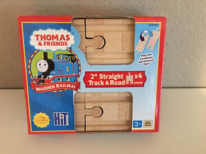 Thomas & Friends WOODEN Ry 2 Inch Straight Train Track Pack -4 Pieces- FREE ship