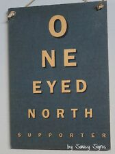 One Eyed North Melbourne Footy Fan Aussie Rules Sign - Bar Man Cave Shed BBQ