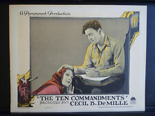 RARE 1923 VINTAGE LOBBY CARD - C B DeMILLE 'S THE TEN COMMANDMENTS - SILENT