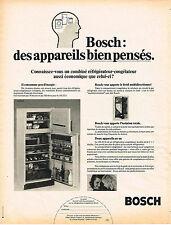 PUBLICITE  1975   BOSCH   réfrigérateur