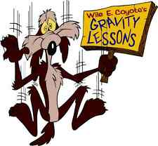 "Wile E. Coyote and The Road Runner Cartoon Car Bumper Sticker Decal 5"" x 5"""