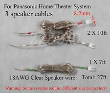 3c speaker cable/wires 8.2mm 27ft:Panasonic DVD/Blu-Ray home theater system;READ