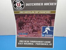 NCAA Union College Dutchmen 2013 Mens Ice Hockey Tournament Guide