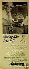 1955 Ted Williams Johnson Boat Motors RED SOX BASBALL SPORTS MEMORABILIA AD