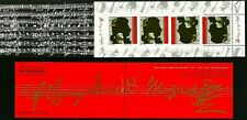 ISRAEL 1992 Stamp Booklet INTERNATIONAL YEAR OF MOZART  MNH (Very Nice)