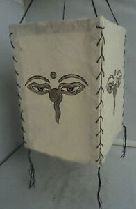 Buddha Eyes Printed Lamp Shade, Sustainable & Eco-Friendly handmade Lokta Paper