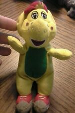 Barney And Friends BJ Yellow Dinosaur Plush Vintage beanie baby 5in