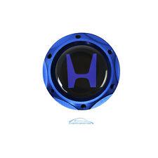 Blue Billet Engine Oil Filler Cap Tank Cover w/ Blue H Emblem For Honda Acura