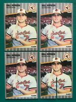 (4) 1989 Fleer BILL RIPKEN FU@K Face Error Scribble Whiteout REPRINT Cards Lot